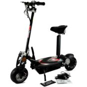 + VAT Brand New Electric 1000W Scooter - 1000w 36V Motor - 3 x 12v 12A Batteries - Front & Rear