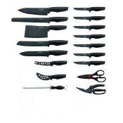 + VAT Brand New 17 pce marble coated knife set