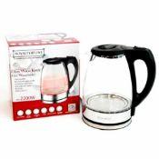 + VAT Brand New 2200w Red LED Glass Water Kettle-1.7L-Split Base-Includes Filter