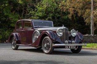 1937 Bentley 4.25 Litre Pillarless Sports Saloon Coachwork by Vanden Plas