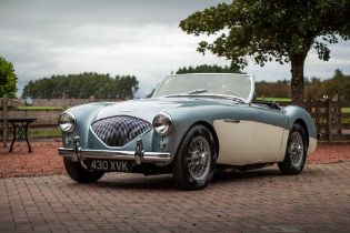 1955 Austin-Healey 100/4 Subtly Upgraded with 5-Speed Transmission and Front Disc Brakes