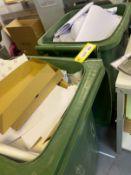 3x Wheelie bins (large domestic size)