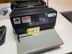JBI Wire-O PB3000 Series 4 binding system, Serial No: 2/20281/B (2001)