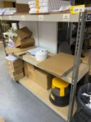 7 x steel slot together shelving racks (NO STOCK INCLUDED) comprising 1 x 1.5m x 0.6m x 2.0m