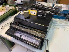 Rhin-O-Tuff Onyx HD-7700 CEVS table top auto hole punch, Serial No: V71602 1070 (2019) with 2-1 &