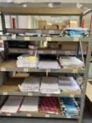 Quantity of assorted paper & envelope stock as lotted - NO RACKING INCLUDED