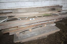 2 PALLETS TIMBER INC. 25MM PLY BOARD, SOFTWOOD RUN LENGTHS FORKLIFT CHARGE £5