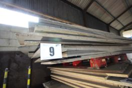 CONTENTS ON TOP PALLET OF MDF AND CHIPBOARD TIMBER, VARIOUS SIZES. FORKLIFT CHARGE £4