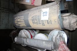 CONTENTS ON PALLET OF ROLL OF PLASTIC SHEETING MATERIAL, AND MISCELLANEOUS