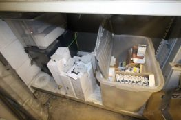 CONTENTS ON BOTTOM SHELF OF RACK CONSUMER BOXES, ISOLATION BOXES AND BOX VARIOUS CIRCUIT BREAKERS