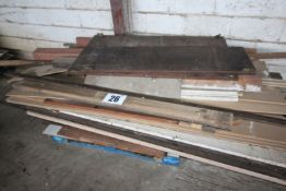 CONTENTS ON PALLET OFF CUTS VARIOUS HARDWOOD AND SOFTWOOD TIMBER AND SHEETING FORKLIFT CHARGE £5