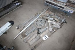 CONTENTS ON PALLET OF PNEUMATIC RAMS VARIOUS SIZES FORKLIFT CHARGE £4