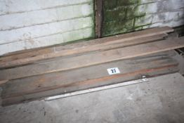 CONTENTS ON PALLET SMALL QTY. SOFTWOOD BEAMS. FORKLIFT CHARGE £4