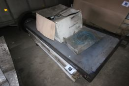 CONTENTS ON PALLET OF APPROXIMATELY 5x DOORS & 1 SOLAR PANEL. FORKLIFT CHARGE £8