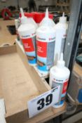 3 SETS OF EAR DEFENDERS, WURTH WOOD ADHESIVE, WURTH SILICONE SPRAY, PANEL CLEANER & SOLUTIONS,