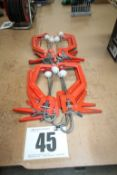 SET OF 8 RED QUICK CLAMPS APPROX. 6INCH