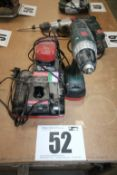 METABO CORDLESS DRILL DRIVER COMPLETE WITH 2 BATTERIES & 2 CHARGERS