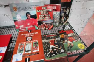 7x MANCHESTER UNITED BOOKS INCLUDING 'MAN UNITED BOOK NO. 12', 'MAN UNITED BOOK NO. 6', MAN UNITED
