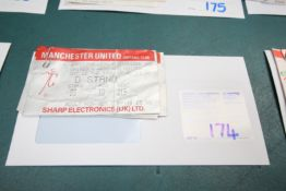 6x 1987 / 88 TICKET STUBS, INCLUDING LIVERPOOL, WEST HAM, CHELSEA