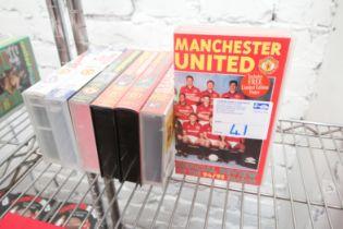 7x MANCHESTER UNITED VHS VIDEOS INCLUDING 1990 / 91 SEASON, 1989 / 90 SEASON, 1993 / 904 SEASON,