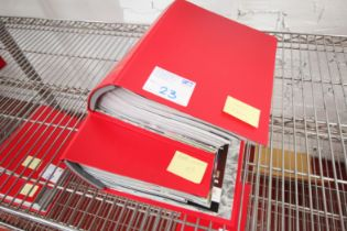 2x RED MANCHESTER UNITED MATCH DAY PROGRAM FOLDERS, SEASON 2006 / 2007