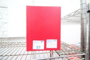 SINGLE RED FOLDER OF MANCHESTER UNITED MATCH DAY PROGRAMS, SEASON 1985 / 86, APPROXIMATELY 20x