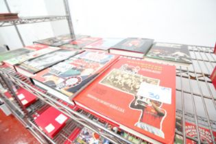10x HARDBACK BOOKS INCLUDING 'MAN UNITED BOOK NO. 9', SIR MATT BUSBY, GEORGE BEST, ENCYCLOPAEDIA, '