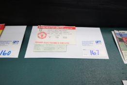 4x 1986 TICKET STUBS, INCLUDING WEST HAM, SUNDERLAND, CHARITY SHIELD