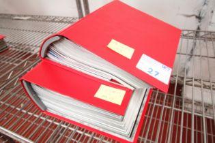 2x RED MANCHESTER UNITED MATCH DAY PROGRAM FOLDERS, SEASON 2007 / 08