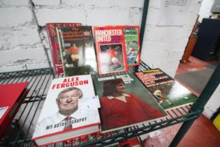 8x MANCHESTER UNITED RELATED BOOKS, INCLUDING 'GEORGE BEST SOCCER ANNUAL NO. 5', 'WINNERS &