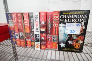 10x MANCHESTER UNITED VHS VIDEOS INCLUDING 'CHAMPIONS OF EUROPE', 'CLASS OF '92', 'THE VIEW 1997 /