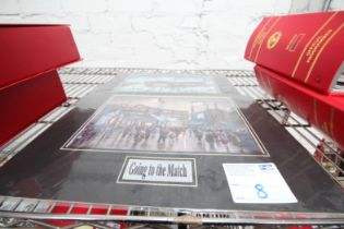 """2x CARDBOARD MOUNTED PRINTS 'GOING TO THE MATCH', EXTERNAL DIMENSIONS 16"""" x 12"""""""