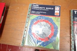 FA COMMUNITY SHIELD MATCH DAY PROGRAM, ARSENAL V. MANCHESTER UNITED, 10TH AUGUST 2003