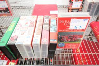 8x MANCHESTER UNITED VHS VIDEOS, 1993 / 94 SEASON, 1987 /88 SEASON, ETC