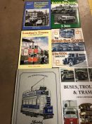 Collection of Hardback books relating to buses, trolleys and trams
