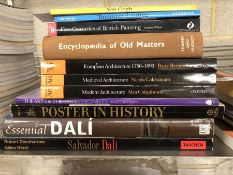 Collection of books relating to art and artists and art history