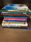 Collection of Hardback books relating to motorcycles