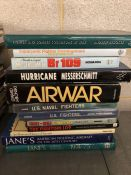 Collection of books relating to military aviation