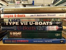 Collection of books relating to warships