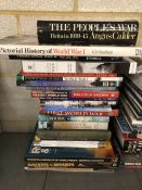 Collection of books relating to the World Wars