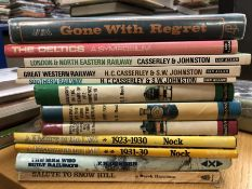 Collection of books relating to railways