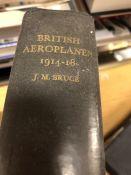 Hardback book by J M Bruce 'British Aeroplanes 1914 - 1918' publisher Putnam