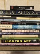 Collection of Hardback books relating to artwork and artists to include Constable and Picasso