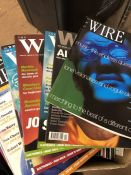 Collection of Jazz magazines entitled Wire