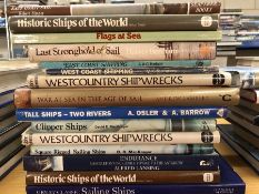 Collection of books relating to ships of the world
