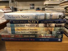 Collection of books relating to the British Navy