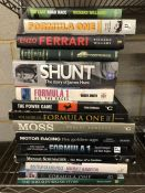 Collection of Hardback books relating to Formula One Motor Racing