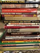 Collection of books relating to steam engines