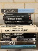 Collection of Hardback books relating to artwork and artists to include Dali