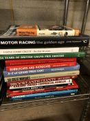 Collection of Hardback books relating to motor racing and Grand Prix